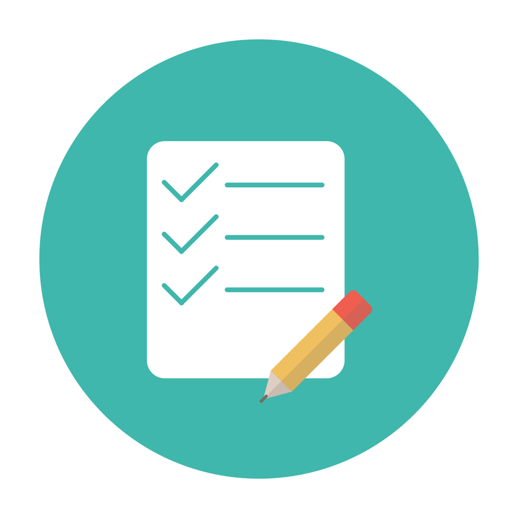 Generic checklist with a pencil