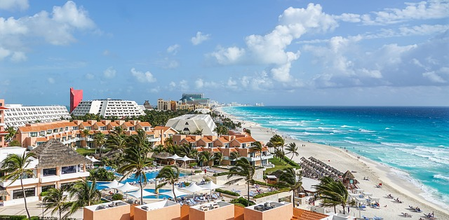 Resort in Cancun, Mexico.